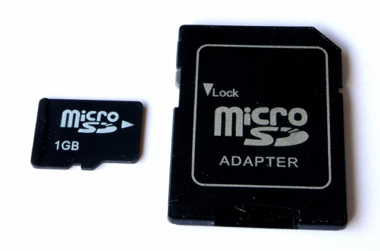 MicroSD with adapter